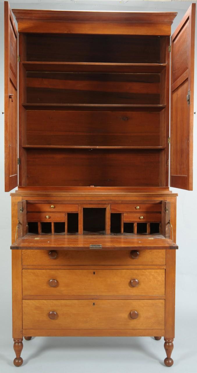 Lot 570: Middle TN Sheraton Secretary-Bookcase