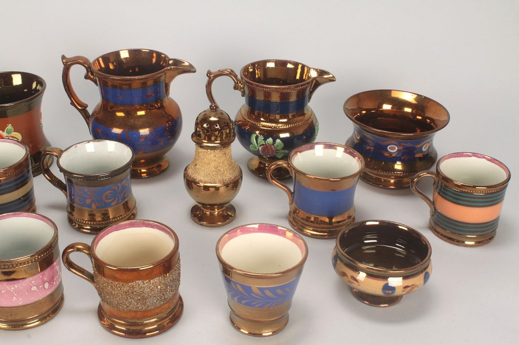Lot 580: Grouping English copper luster