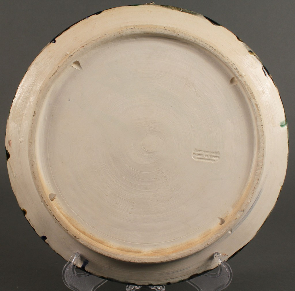 Lot 584: Pair Majolica Palissy Ware Plates