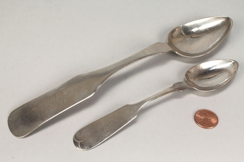Lot 58: 2 Franklin TN coin silver spoons