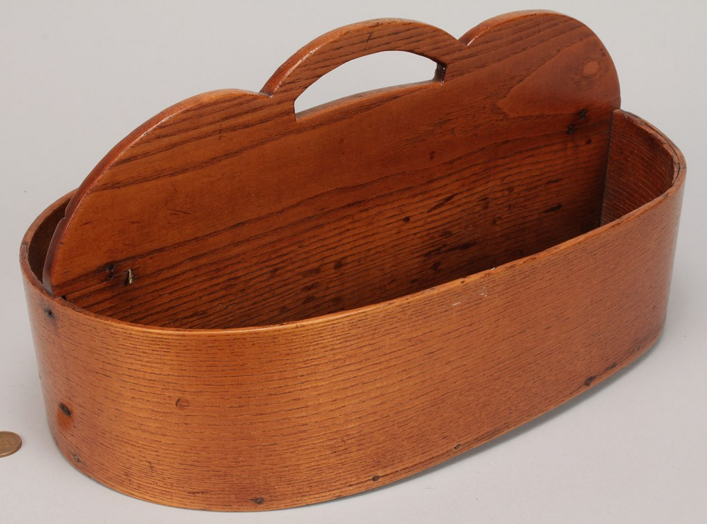 Lot 597: Biscuit Mallet and Shaker Cutlery Carrier