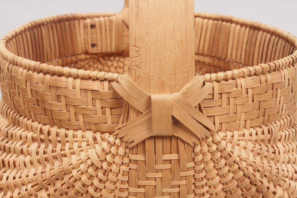 Lot 600: 3 Tennessee White Oak Baskets, 1 signed