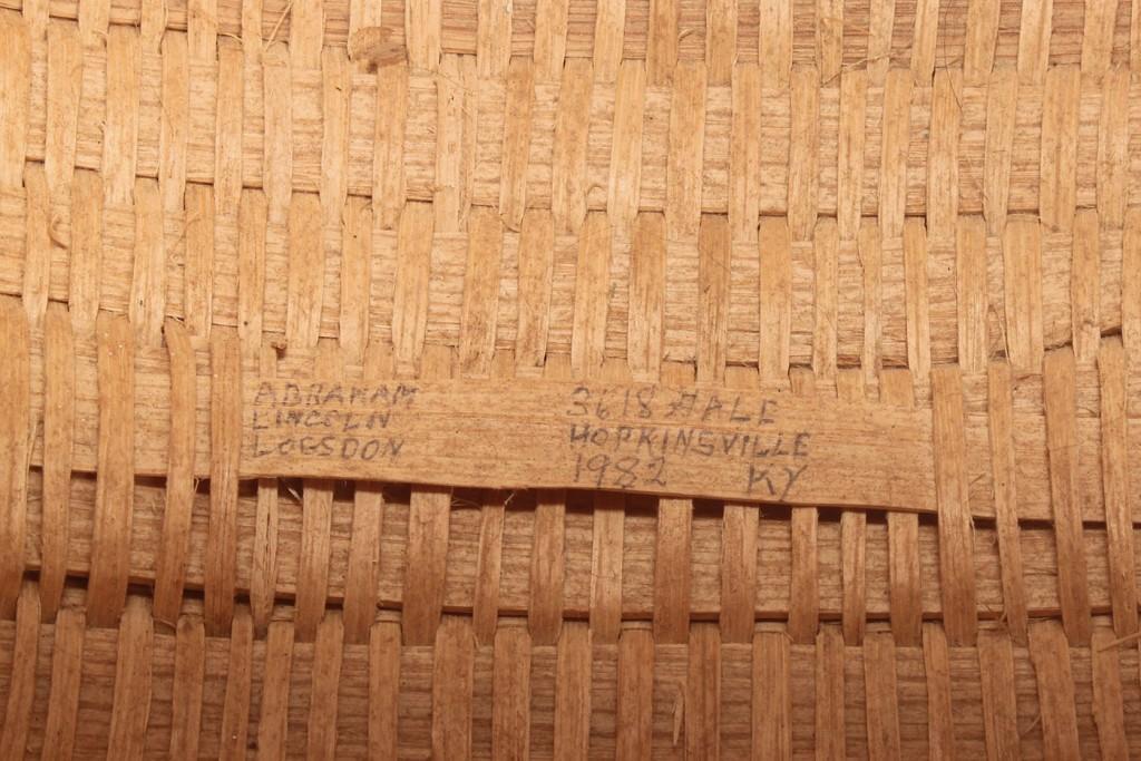 Lot 601: Three (3) Kentucky A.L. Logdson baskets