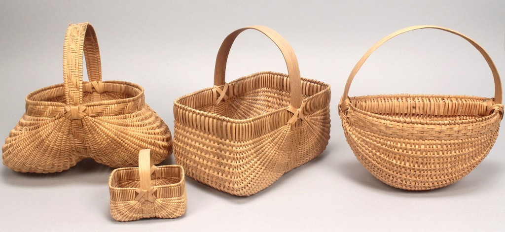 Lot 602: 4 TN baskets attr. Mildred Youngblood & Nelda Merr