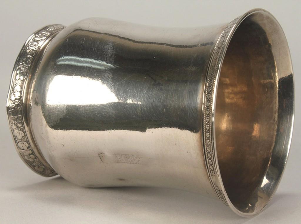 Lot 60: F.H. Clark Memphis coin silver cup