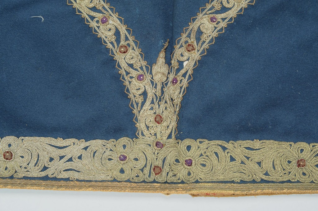 Lot 616: 19th c. Vest, Silk Purse and Silk Panel