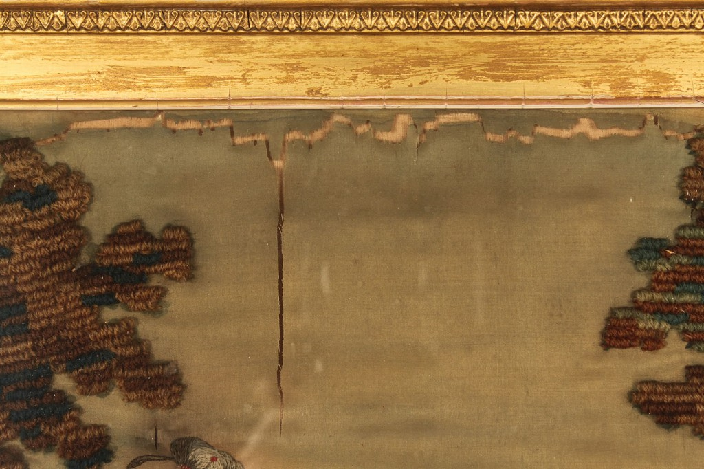Lot 617: Silk needlework picture, Celtic theme