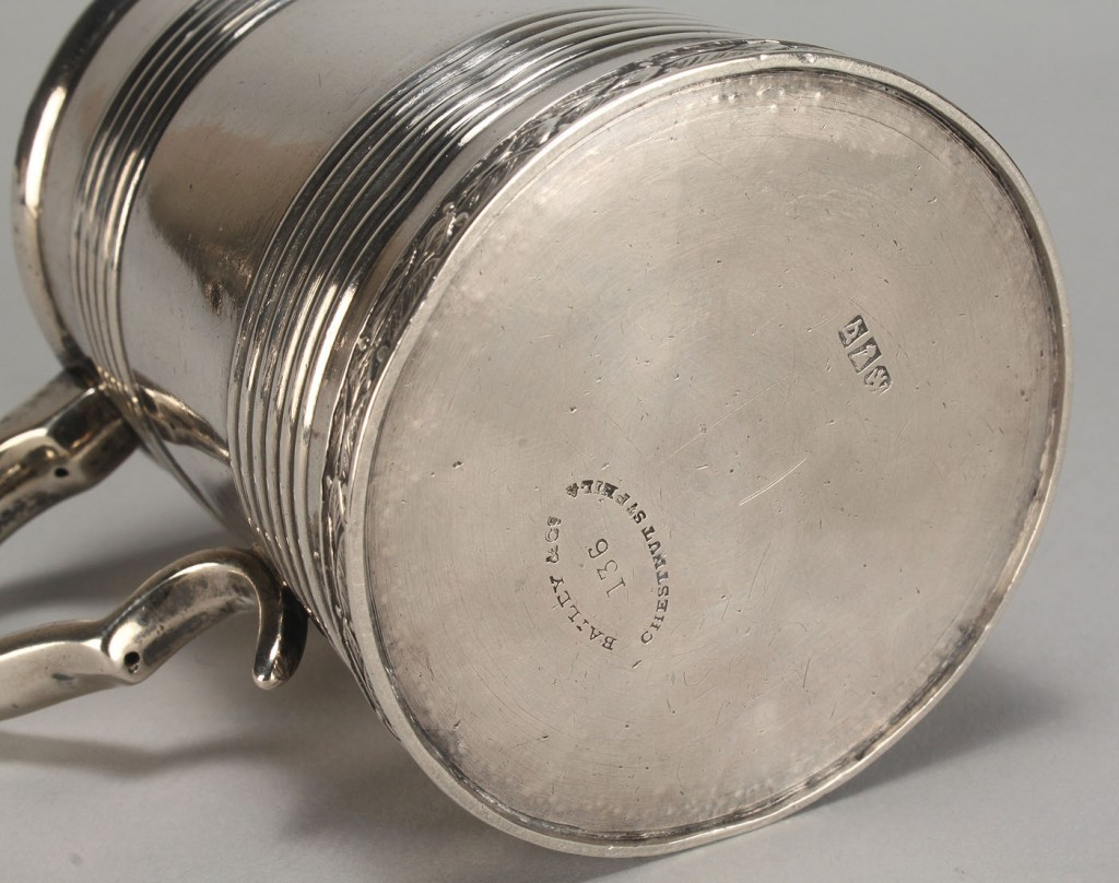 Lot 61: Coin Silver Cup, engraved Polk