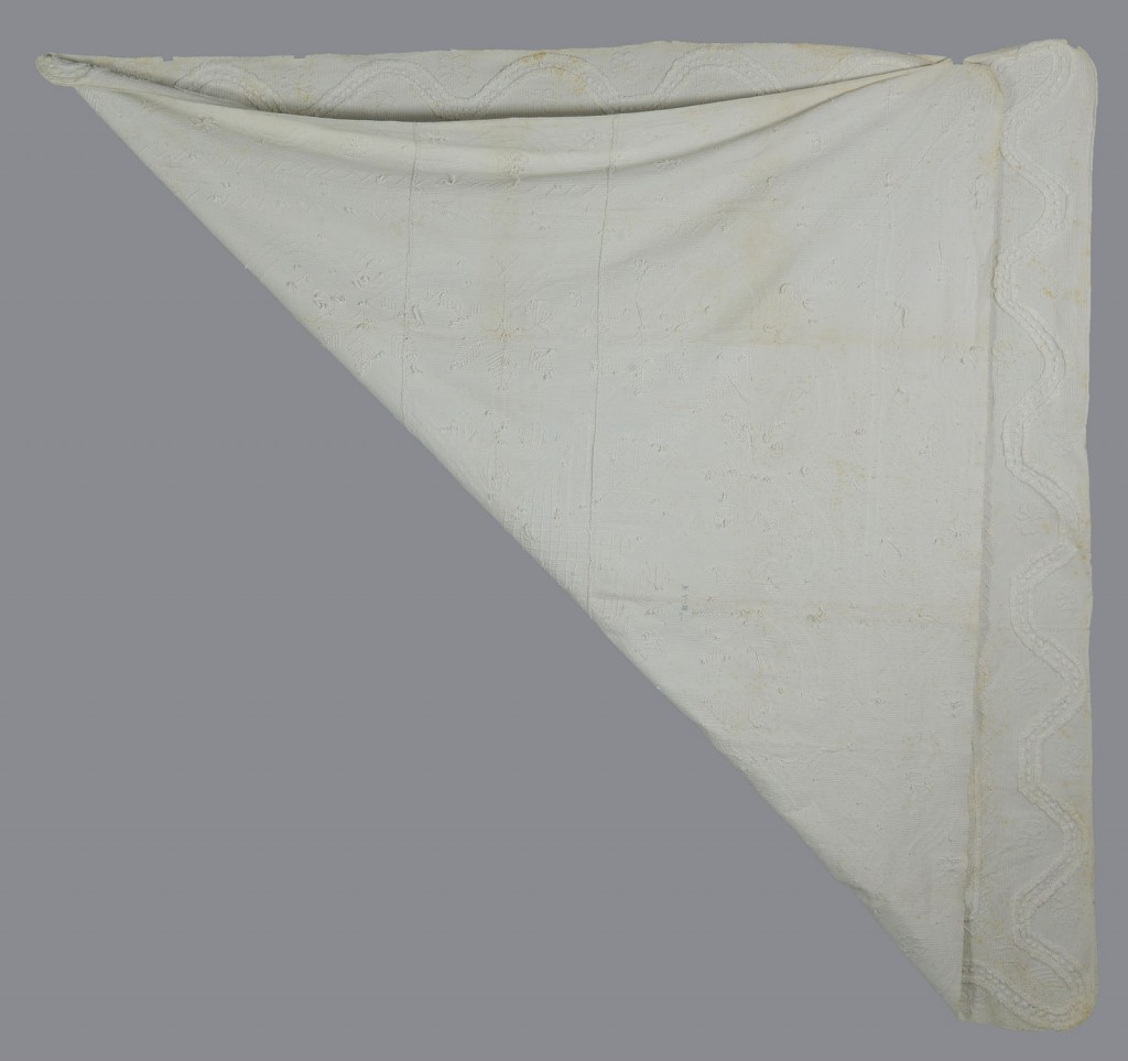 Lot 620: Candlewick Coverlet with Knox County history