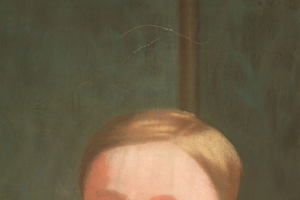 Lot 622: Victorian Pastel of Young Boy w/ Toys