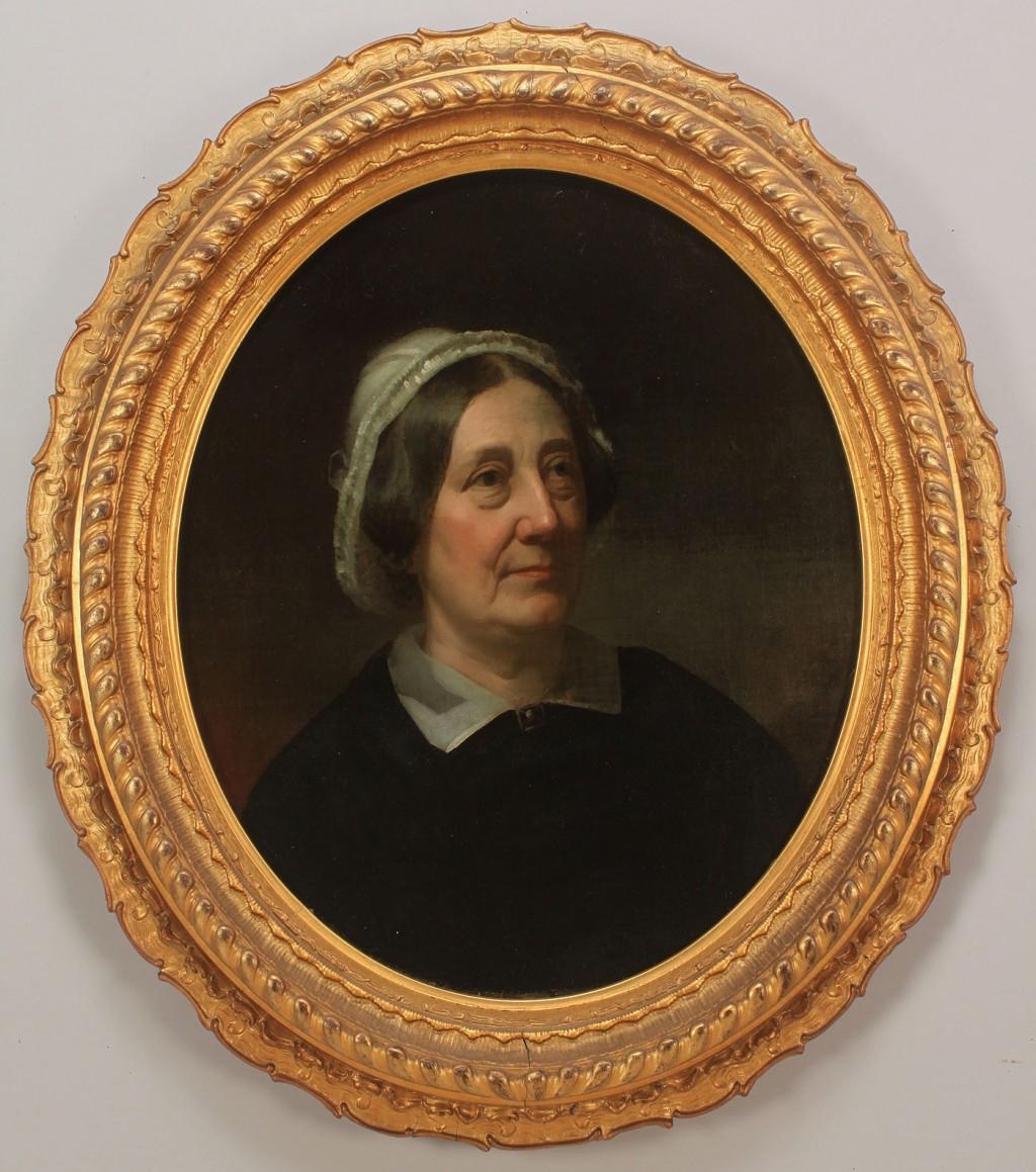 Lot 623: American School, Portrait of wife of Major Van Dev
