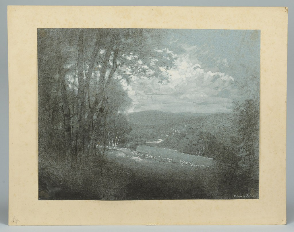 Lot 625: 3 works on paper by Walworth Stilson. CT, early 20