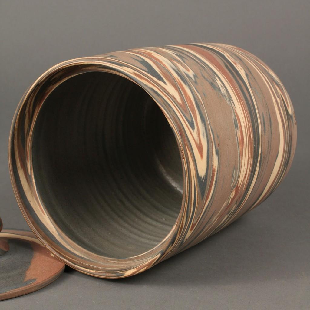 Lot 629: Niloak Mission Ware Art Pottery Lidded Cannister