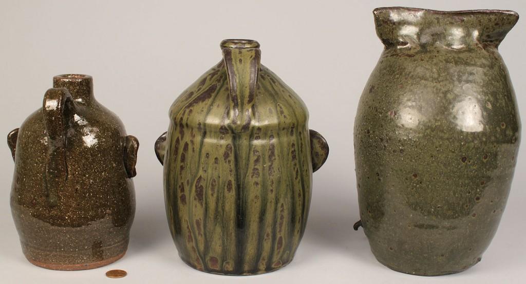 Lot 633: 3 Georgia Folk Art Pottery Items
