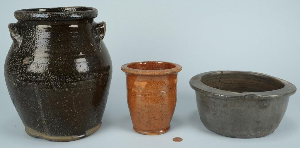 Lot 634: 3 Wythe Co. Virginia Pottery Items