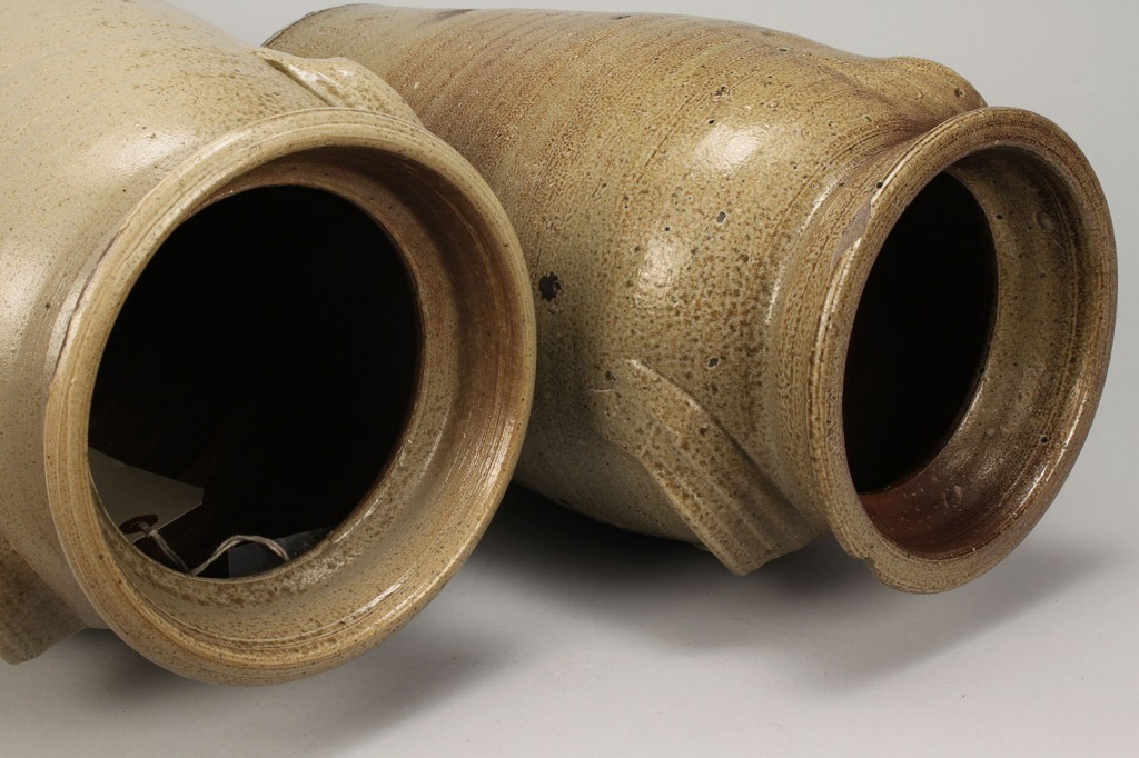 Lot 635: 2 NC Piedmont Stoneware Pottery Jars