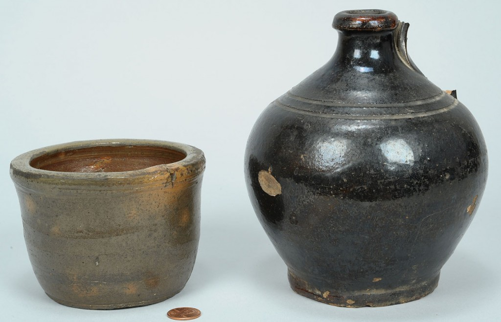 Lot 639: 2 East TN Pottery Items, incl. Harmon