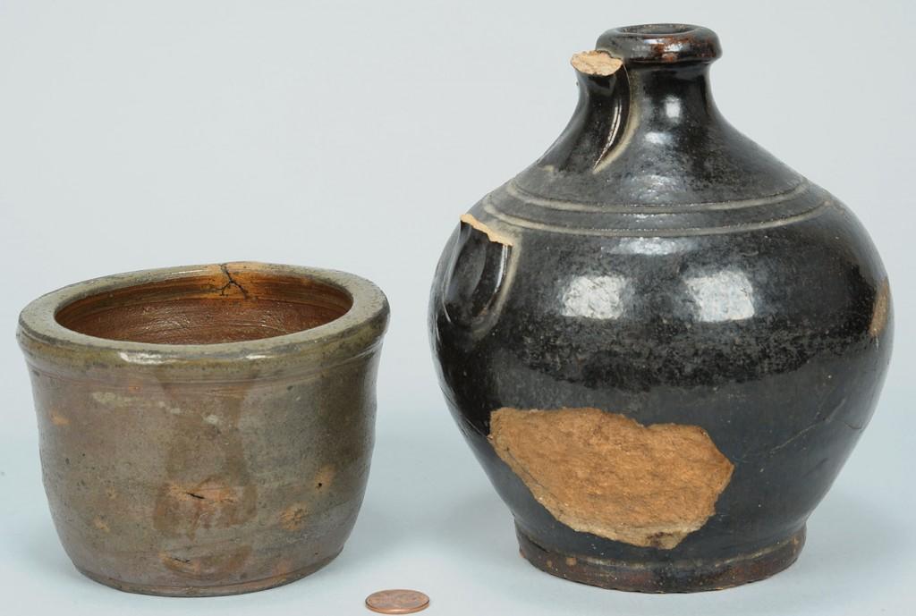 Lot 639: 2 East TN Pottery Items, incl. Harmon