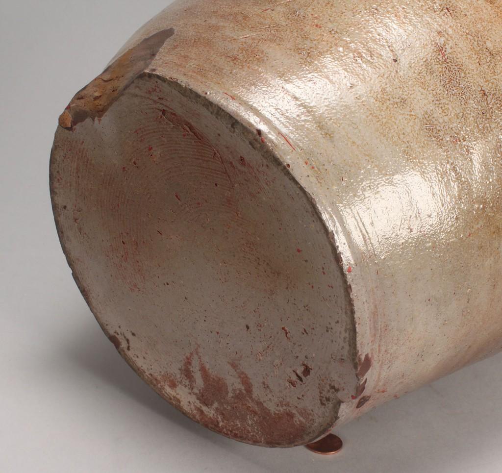 Lot 640: West Tennessee stoneware jar, attrib. Craven