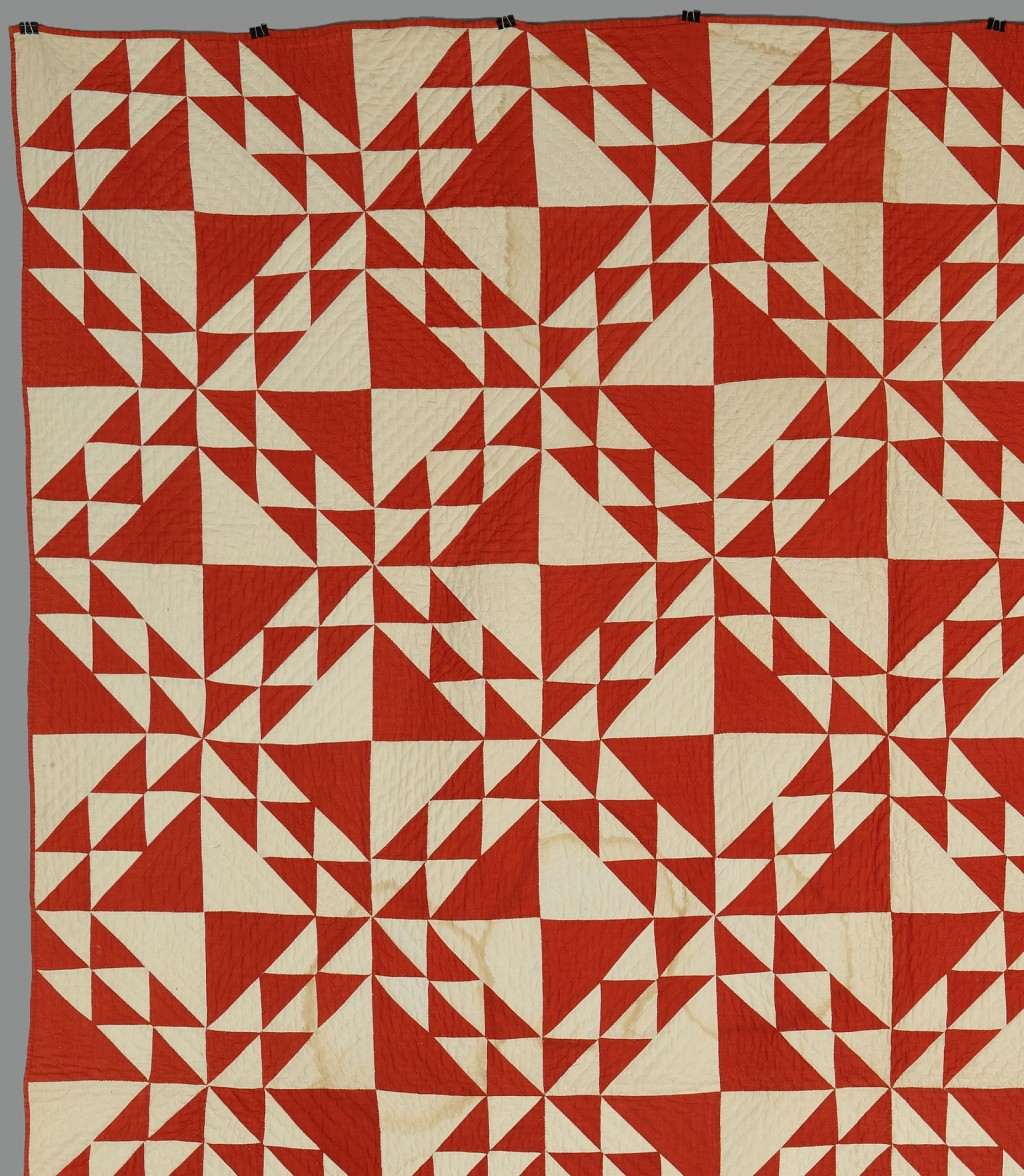 Lot 644: East TN Red & White Pieced Cotton Quilt