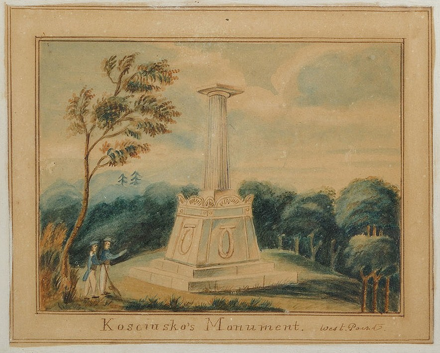 Lot 64: Watercolor of  West Point Monument