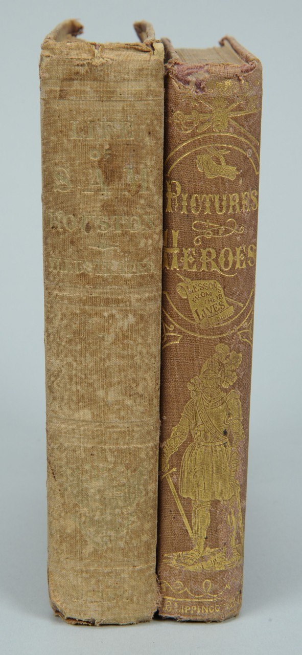 Lot 651: 2 books: Life of Sam Houston, Pictures of Heroes
