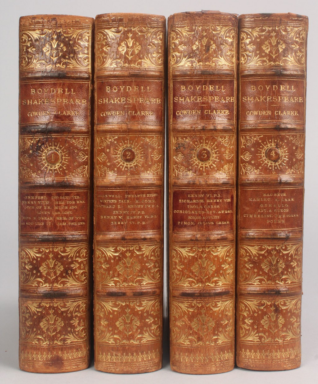 Lot 652: 4 Leather vols. Shakespeare, Boydell