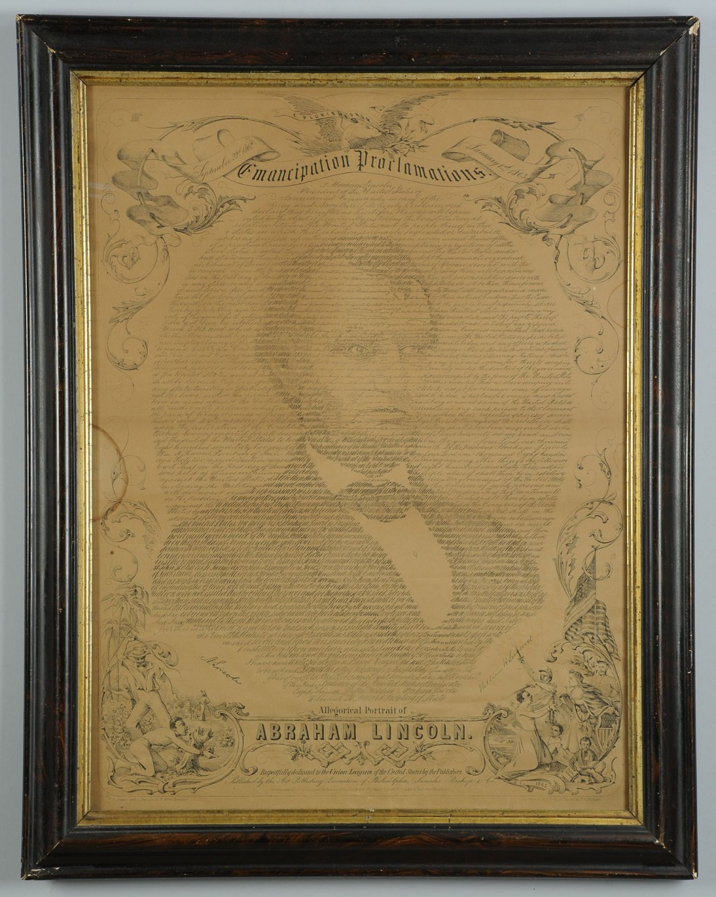 "Lot 653: Lincoln ""Emancipation Proclamations"" Lithograph"