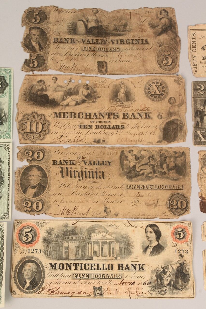 Lot 659: Collection of Southern Obsolete Currency