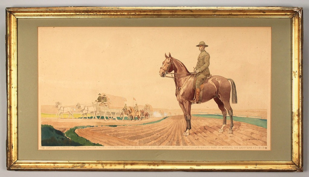 Lot 669: Horst Schreck WWI Watercolor and Photo Auxiliary R