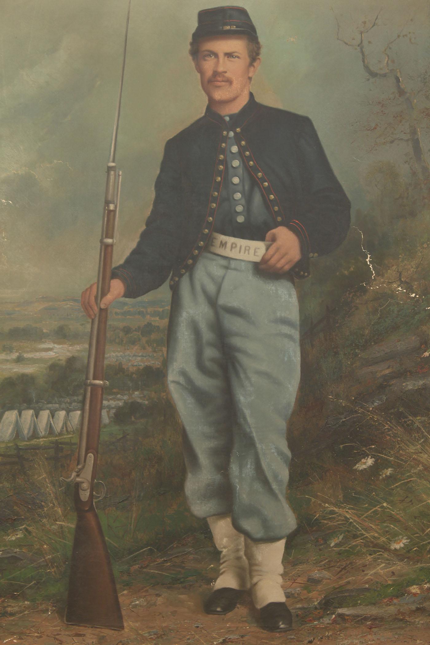 Lot 66 Large Union Civil War Portrait Oil On Canvas