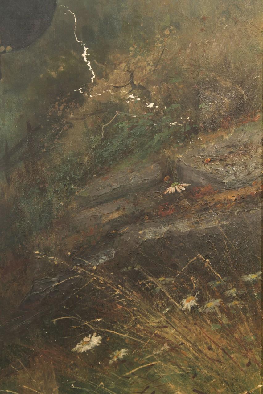 Lot 66: Large Union Civil War Portrait Oil on Canvas
