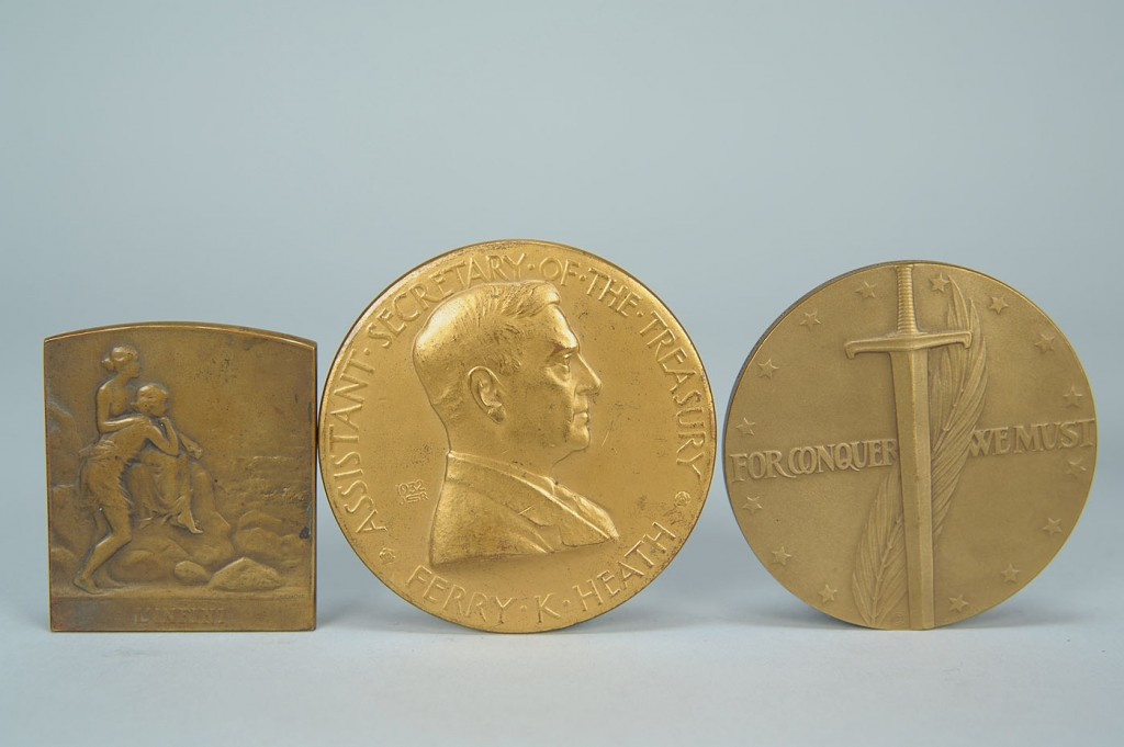 Lot 674: Collection of 7 assorted bronze medals