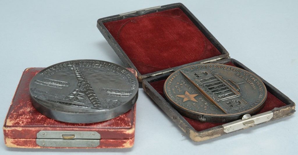 Lot 675: 2 Tennessee Exposition Commemorative Medals