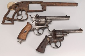 Lot 677: Savage 1850 Relic, two Belgian pinfire