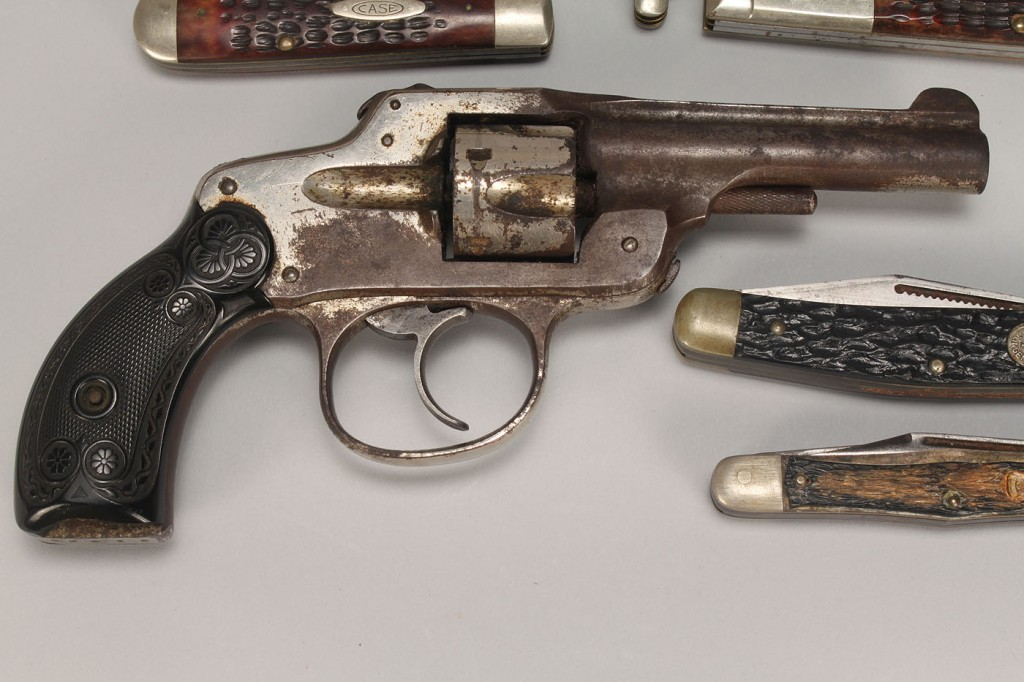 Lot 678: American Revolver & Collection of Knives