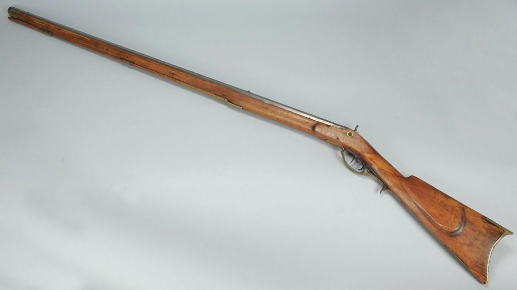 Lot 679: Full stock Kentucky rifle