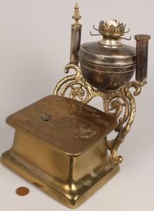 Lot 683: Brass Cigar Cutter lamp, Buckingham Brothers
