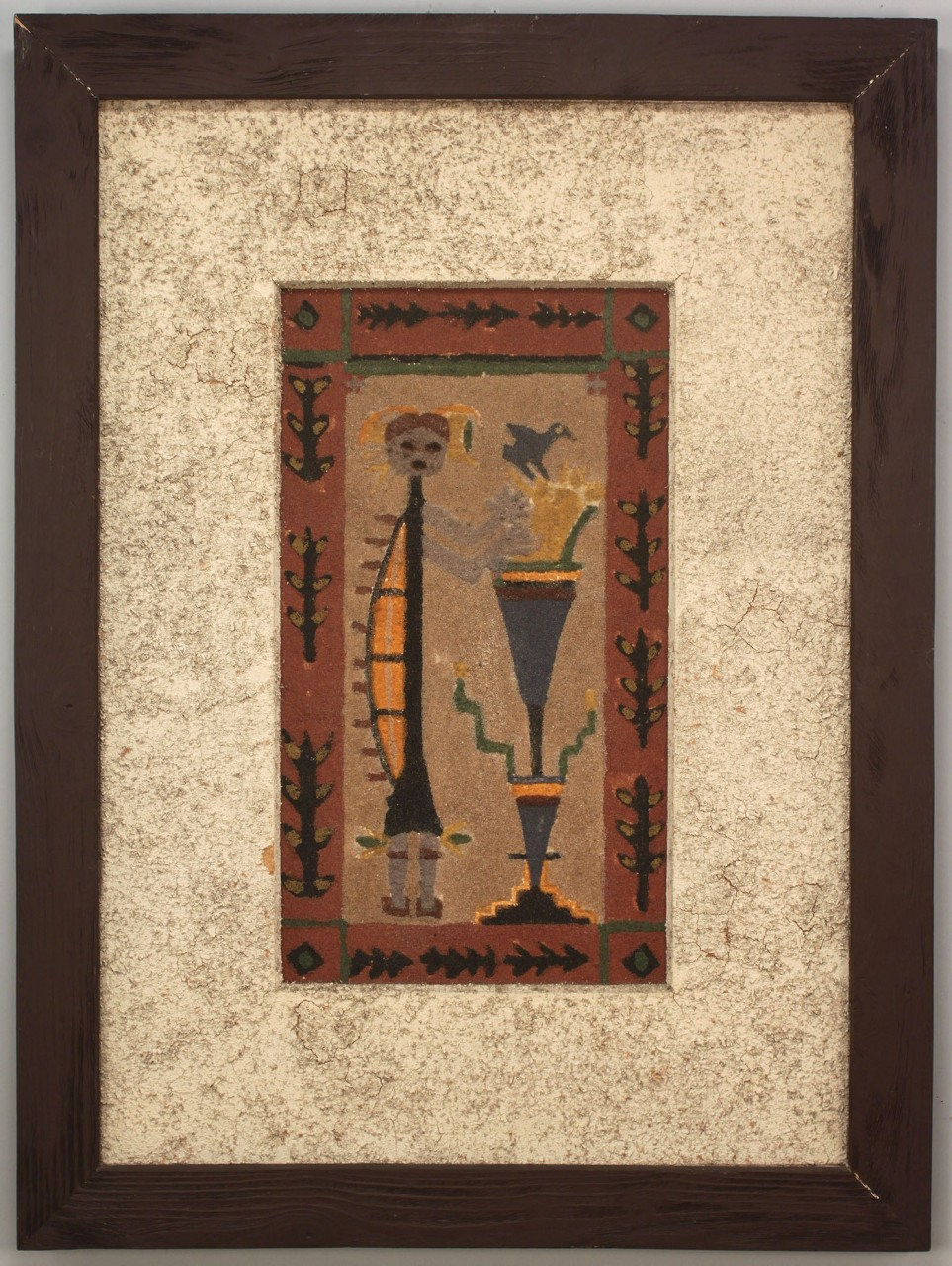 Lot 684: Large Native American Sand Painting, Houle