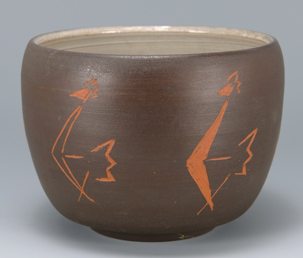Lot 686: Southwest Type Pottery Bowl, Ken McDonald