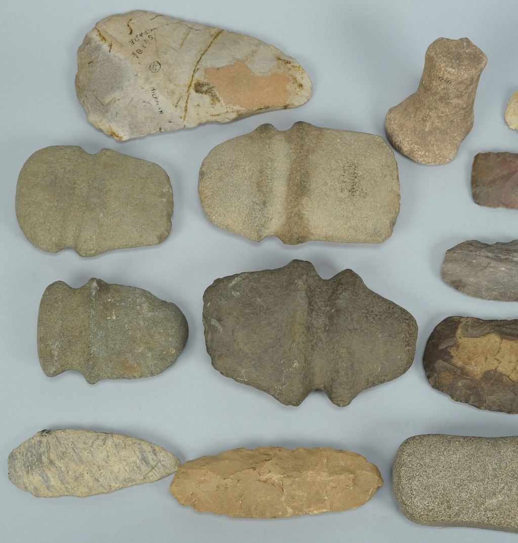 Lot 689: 17 Native American Tools, Ax, Blades and Pestles