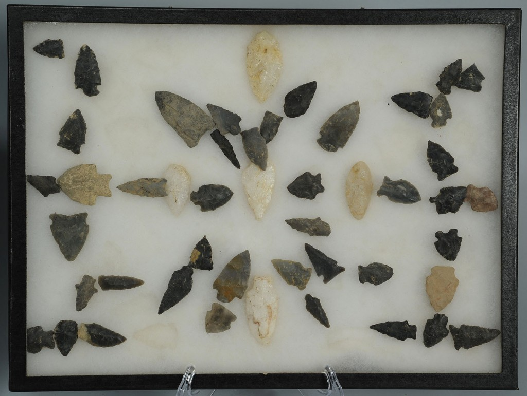 Lot 690: Cased Collection of 251 Native American Points