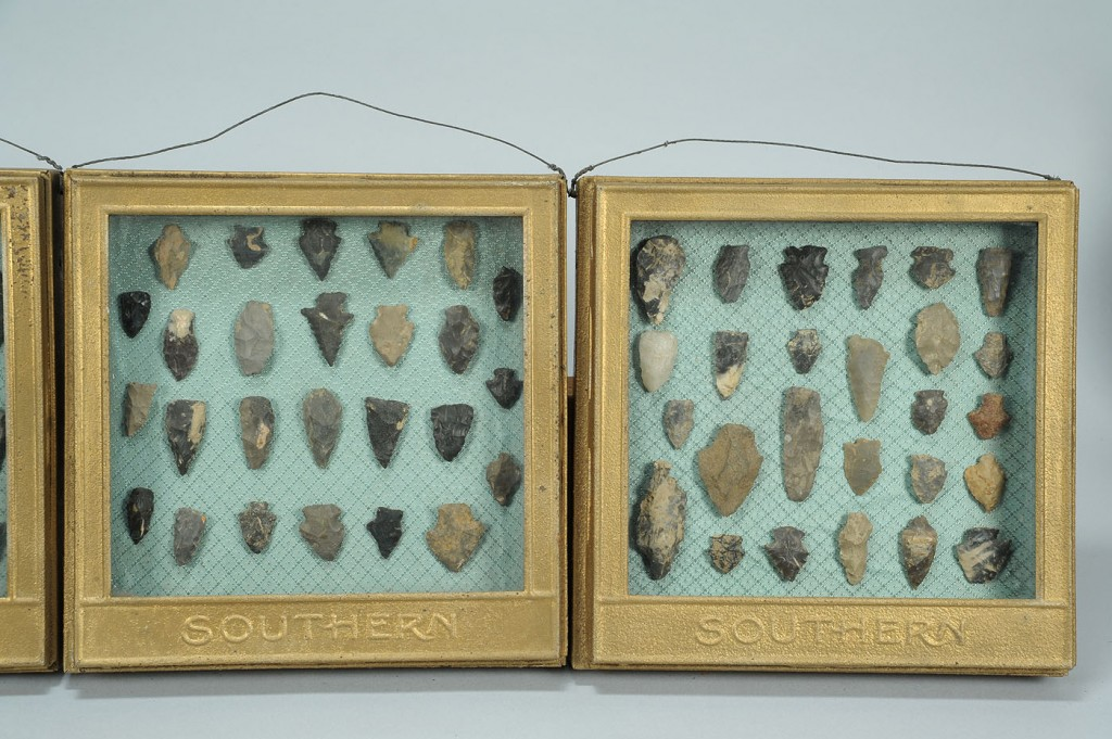 Lot 691: 4 Southern Railway Shadow Boxes w/ Indian Points