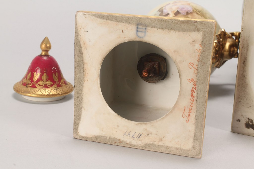 Lot 696: 2 Royal Vienna Covered Urns, one signed