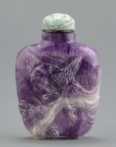 Lot 6: Chinese Carved Amethyst Snuff Bottle - Image 1