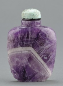 Lot 6: Chinese Carved Amethyst Snuff Bottle - Image 2