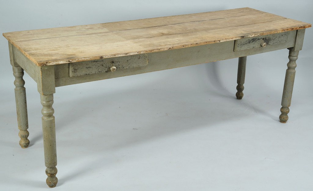 Lot 705: East Tennessee Painted Long Table
