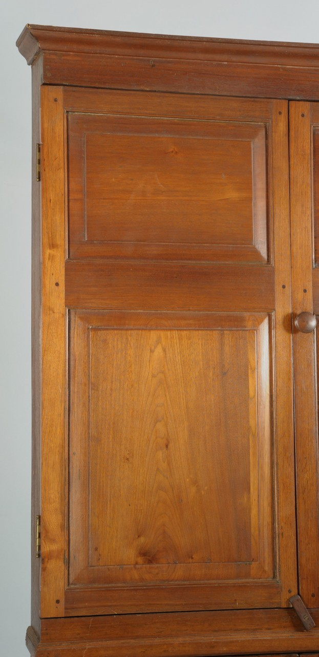 Lot 706: East Tennessee Walnut Corner Cupboard