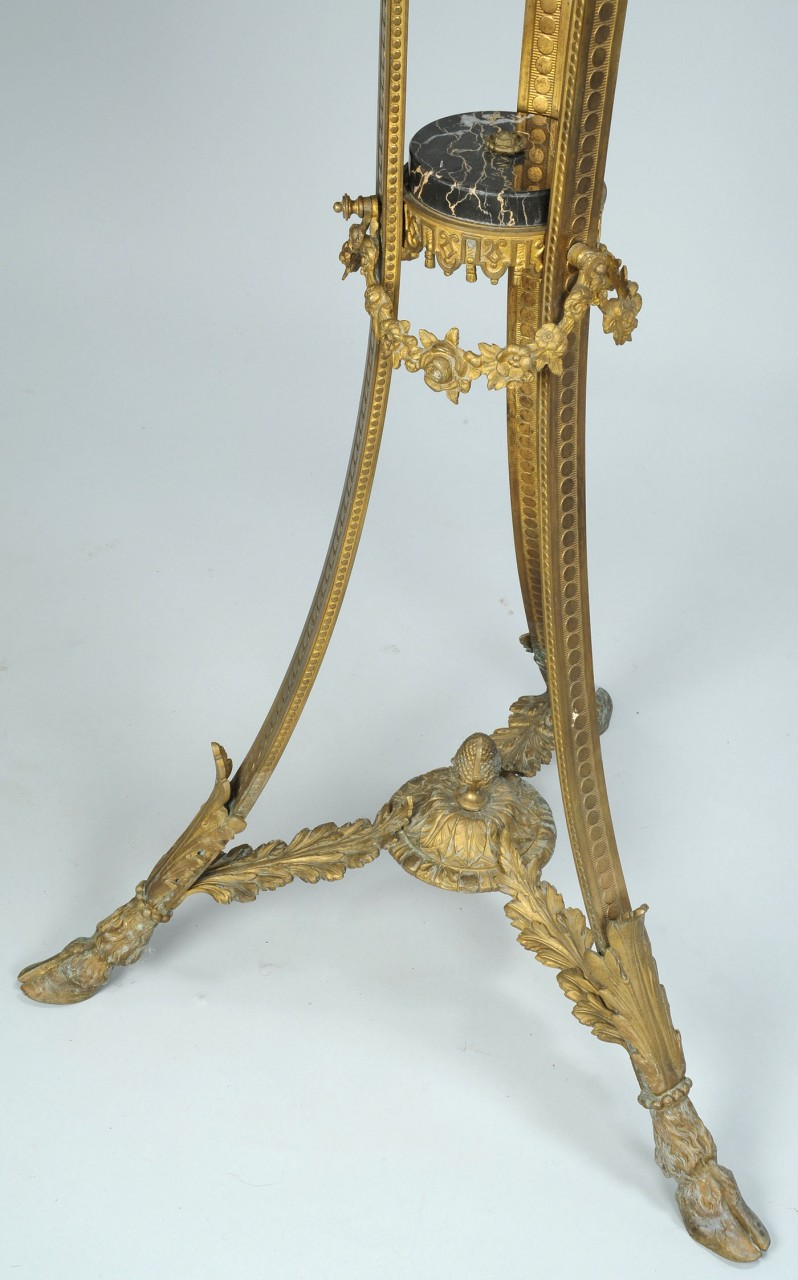 """Lot 708: Neoclassical style torchiere or pricket stand, 47"""""""