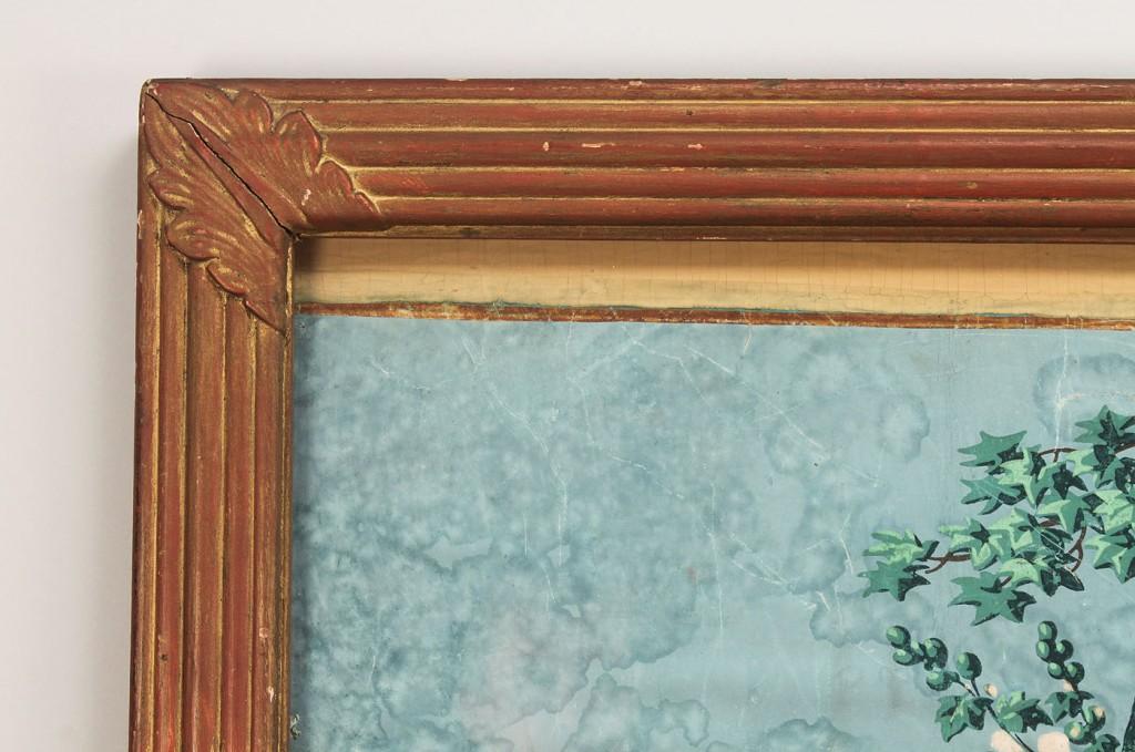 Lot 710: Framed Zuber Wallpaper panel